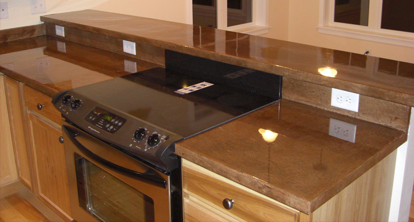 Beau EPOXY COUNTERTOPS IN ROCKFORD. STAINED CONCRETE IN ROCKFORD